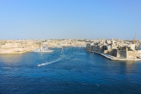 waterfront of valletta city malta