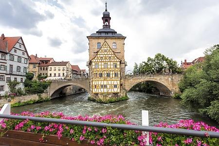 old town hall with rottmeisterhaeuschen in