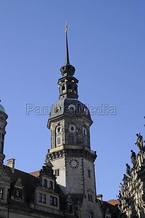castle tower in dresden