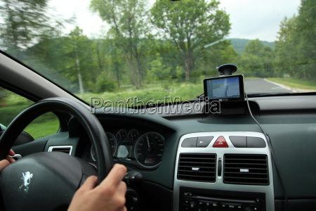 car satelite navigation system gps device