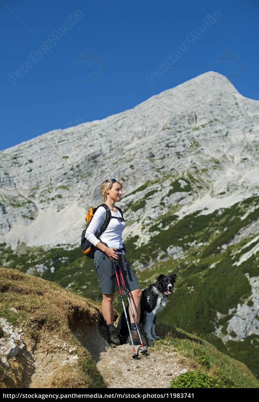 hiking, with, dog - 11983741