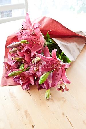 fresh pink lily