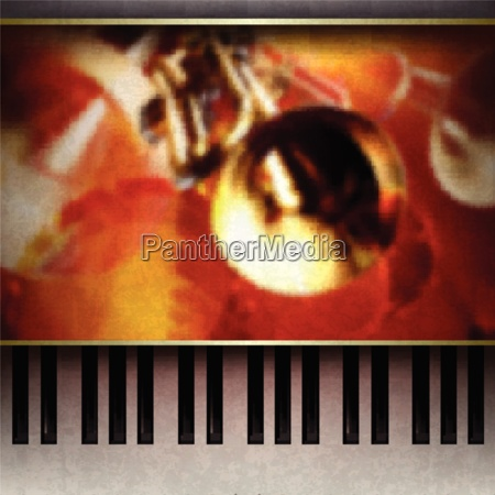 abstract grunge background with piano on