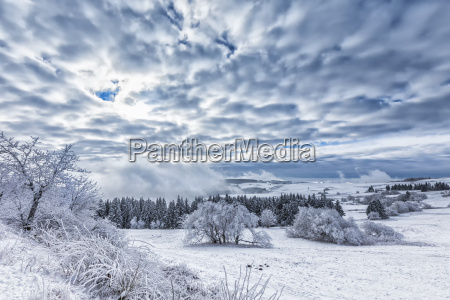 winter on the wasserkuppe in the