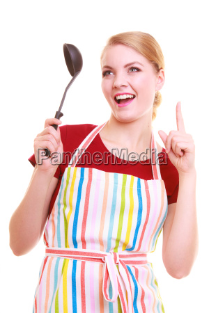funny housewife cook or chef in
