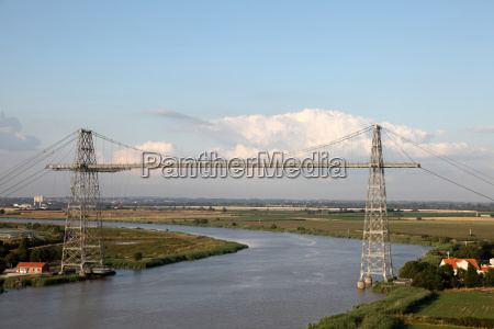transporter bridge crossing the charente river