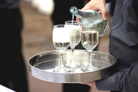 waiter serving at a party