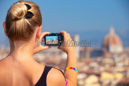 photographing beautiful view