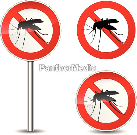 vector mosquito sign