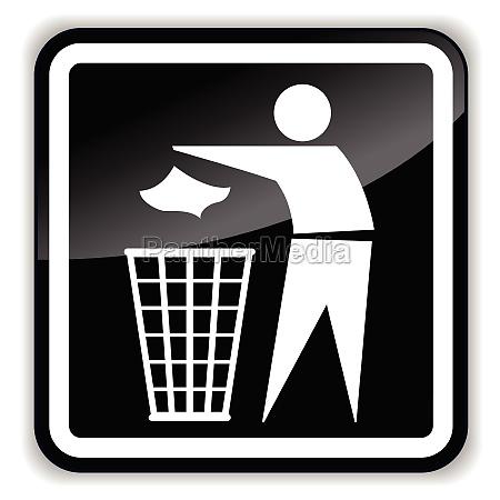 vector black bin icon