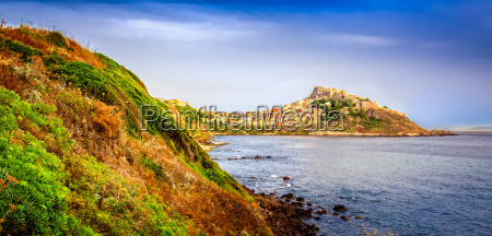 scenic view of castelsardo town and