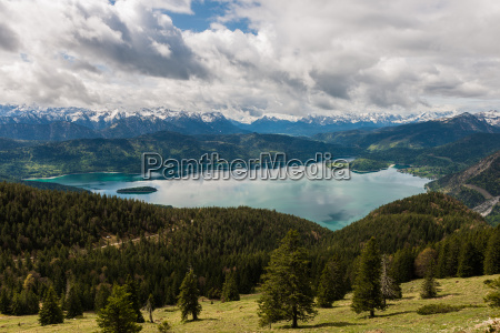 walchensee from a birds eye view