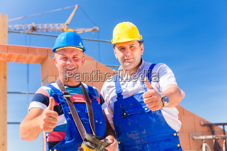 two construction workers on a construction