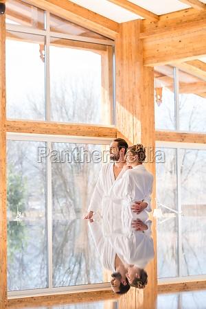 couple enjoy views at wellness spa