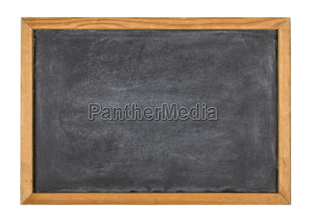 empty slate with wooden frame