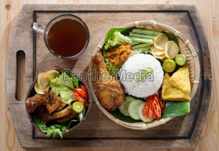 asian fried chicken meal set