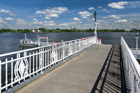 summer weather at the alster pier