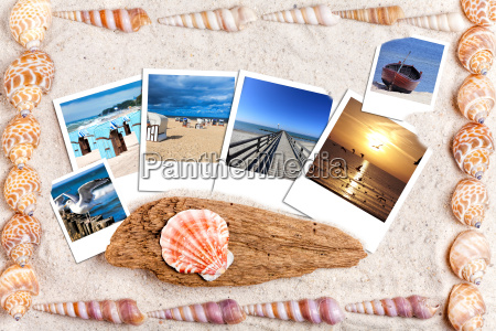 holiday photos on lying on sand