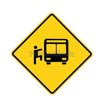 road sign yellow rider