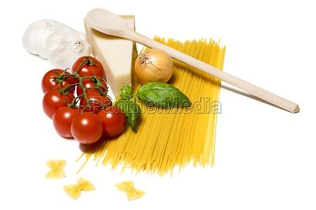 ingredients pasta parmesan tomato onion garlic