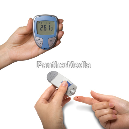 blood glucose meter diabetes isolated on