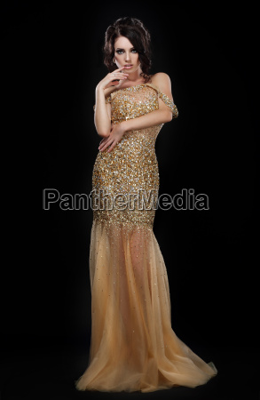 formal party glamorous fashion model in
