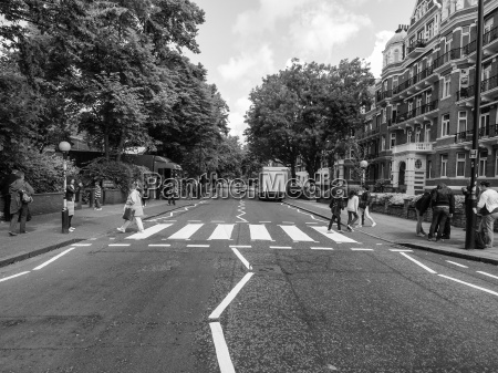 black and white abbey road london