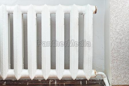 iron radiator of water heating in