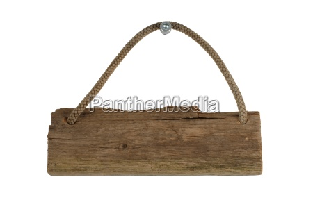 an isolated old wooden board with