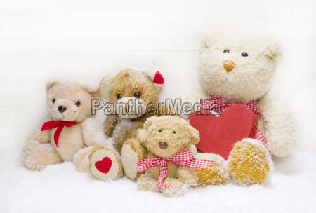 teddy bear family mother with