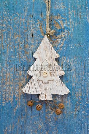 handmade christmas decoration tree carved