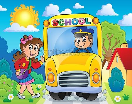 image with school bus theme 8