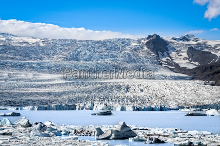 scenic view of the glacier and