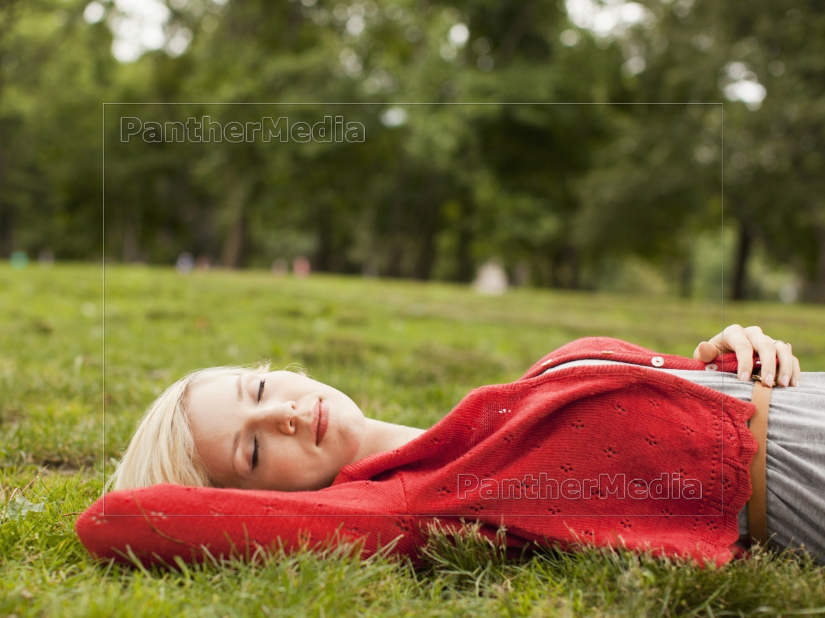 One Woman Only, Relaxing, Sleeping, Nature, Tree, Casual Clothing - 12096142