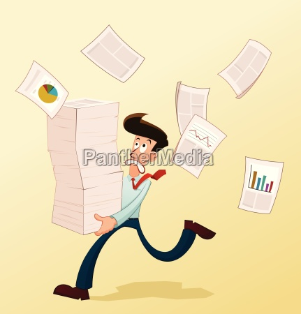 young worker and documents