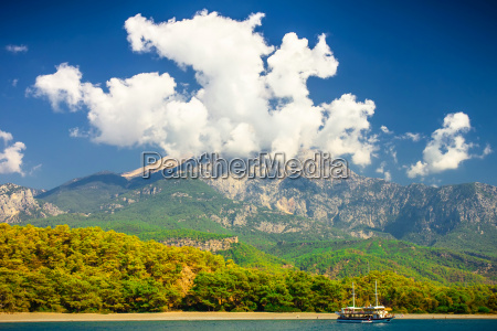beautiful landscape turkey mountain over