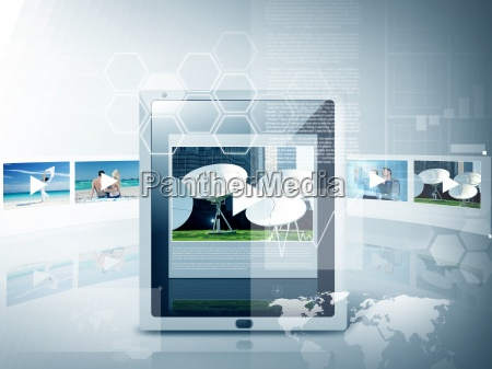 tablet pc with video player app