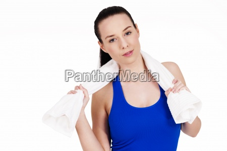 portrait of sporty attractive woman