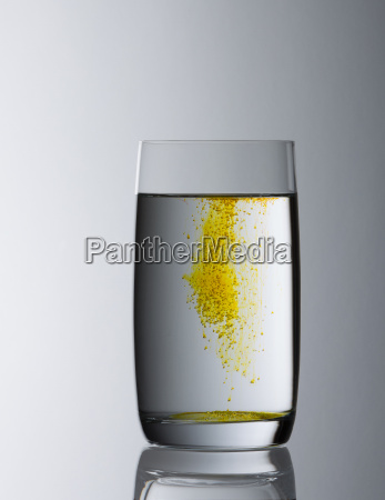 water glass filled with gradient