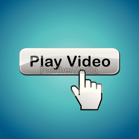 vector video button concept