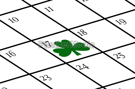 calendar with st patricks day