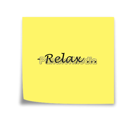sticky note reminder to relax