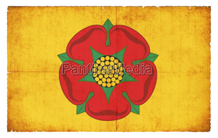grunge flag lancashire united kingdom