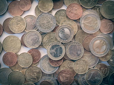 retro look euro coin