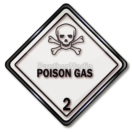 transport sign warning of toxic substances