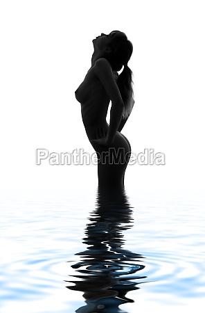 mujer azul hermoso bueno salud femenino