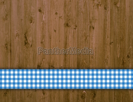 wooden boards with blue and white