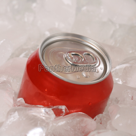 cola drink in a can on