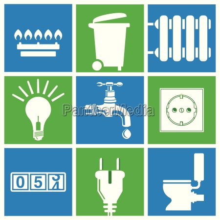 water electricity gas utilities household waste