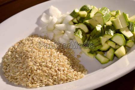 barley and zucchini